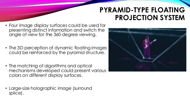 Three-dimensional Holographic Projection Technology PPT | 2018