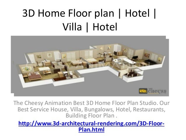 Charmant 3D Home Floor Plan | Hotel | Villa | Hotel The Cheesy Animation Best 3D Home