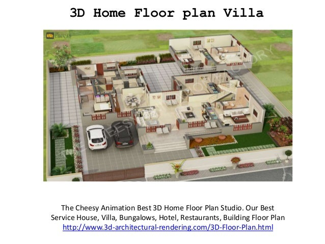 3D Home Floor Plan Villa The Cheesy Animation Best 3D Home Floor Plan  Studio. Our