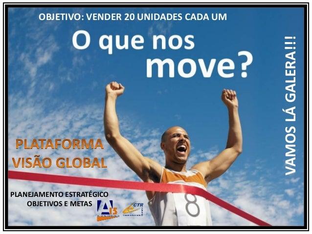 PLANEJAMENTO ESTRATÉGICOOBJETIVOS E METASOBJETIVO: VENDER 20 UNIDADES CADA UMVAMOSLÁGALERA!!!