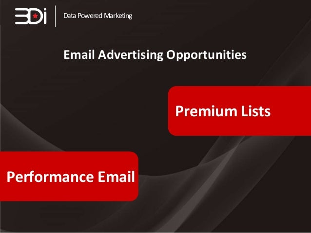 Data Powered Marketing  Email Advertising Opportunities  Premium Lists  Performance Email
