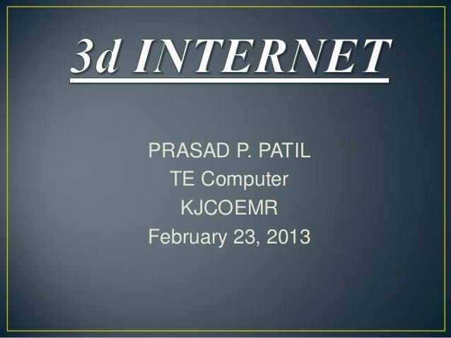 PRASAD P. PATIL TE Computer KJCOEMR February 23, 2013