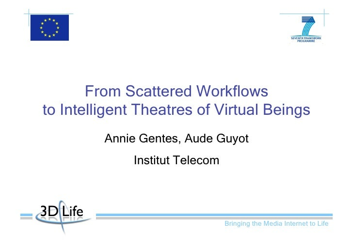 From Scattered Workflows to Intelligent Theatres of Virtual Beings          Annie Gentes, Aude Guyot              Institut...