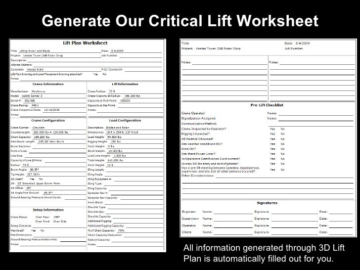 6 Generate Our Critical Lift