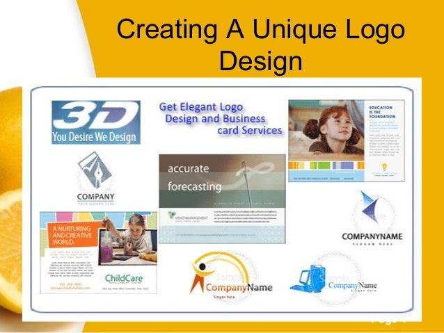 Page 1 Creating A Unique Logo Design