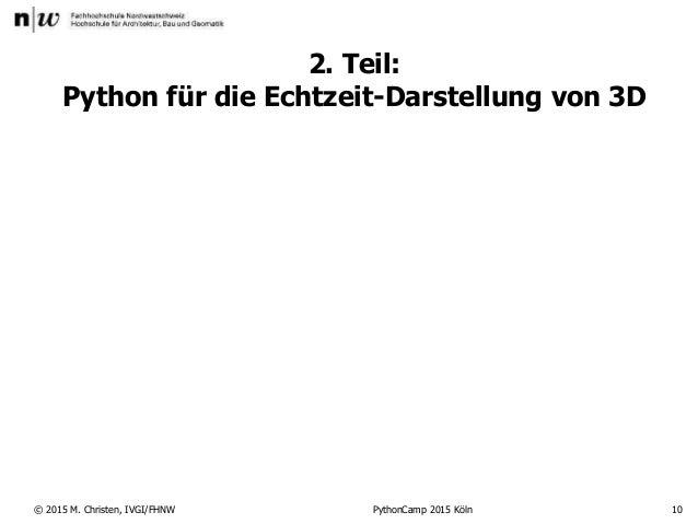 3d mit Python (PythonCamp)