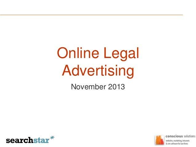 Online Legal Advertising November 2013