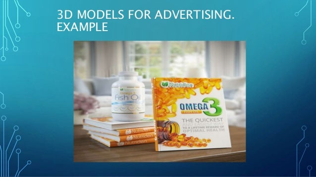 3D MODELS FOR ADVERTISING. EXAMPLE