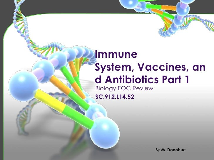 ImmuneSystem, Vaccines, and Antibiotics Part 1Biology EOC ReviewSC.912.L14.52                     By M. Donohue