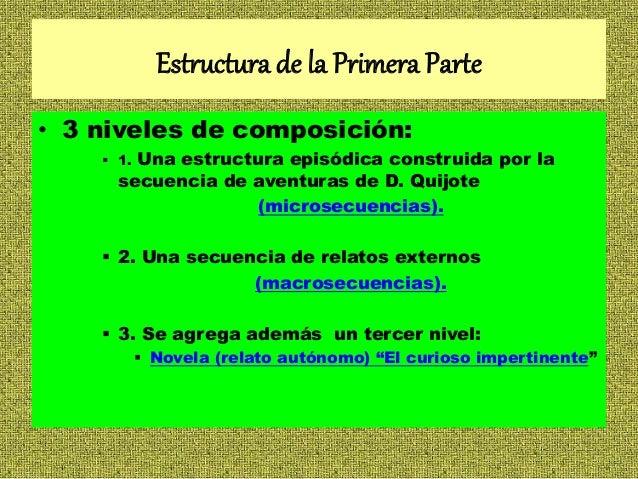 Don Quijote De La Mancha Estructura Y Otros
