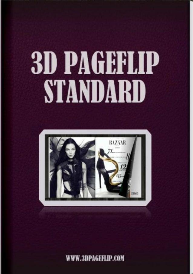 3d pageflip standard - 3d page flip software   3DPageFlip