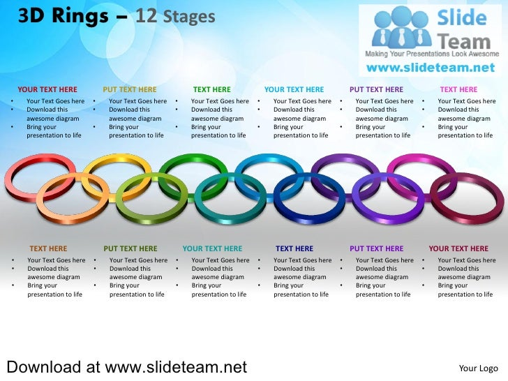 3D Rings – 12 Stages    YOUR TEXT HERE               PUT TEXT HERE                 TEXT HERE                  YOUR TEXT HE...