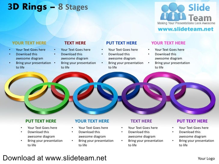 3D Rings – 8 Stages     YOUR TEXT HERE                    TEXT HERE                  PUT TEXT HERE                 YOUR TE...