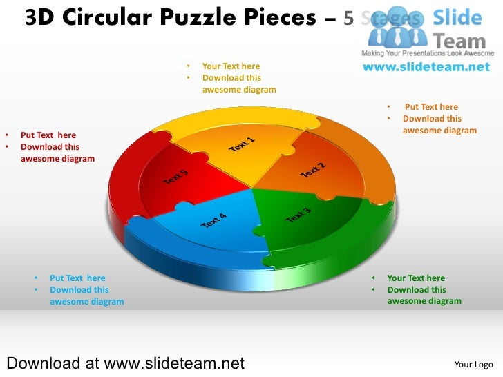 3D Circular Puzzle Pieces – 5 Stages                            •   Your Text here                            •   Download...