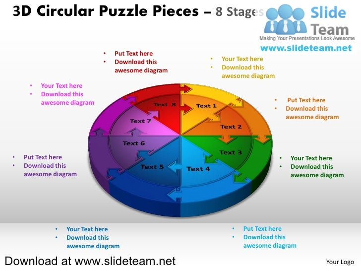 3D Circular Puzzle Pieces – 8 Stages                            •   Put Text here                            •   Download ...