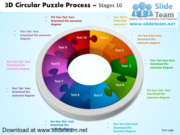 3D Circular Puzzle Process – Stages 10                               •      Put Your Text here                   •   Your ...