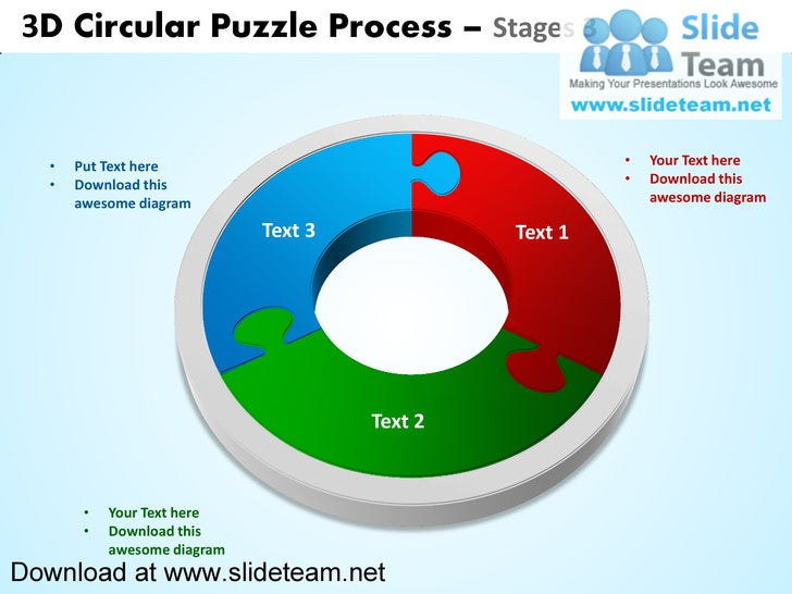 3D Circular Puzzle Process – Stages 3   •   Put Text here                                     •   Your Text here   •   Dow...