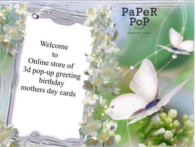 3d Pop Up Greeting Cards Birthday Mothers Day Online