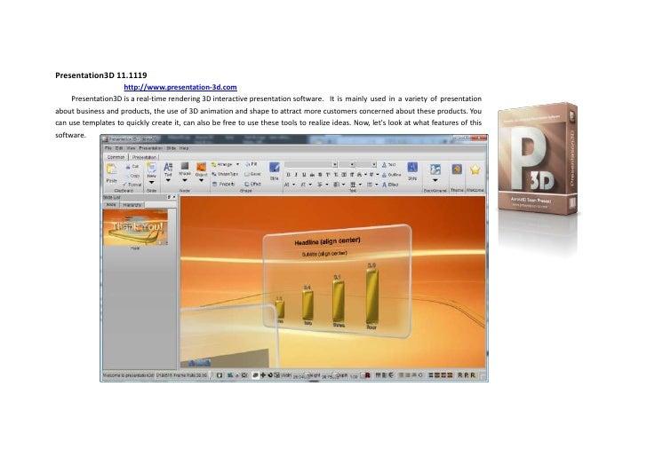 3d powerpoint 3d interactive presentation software