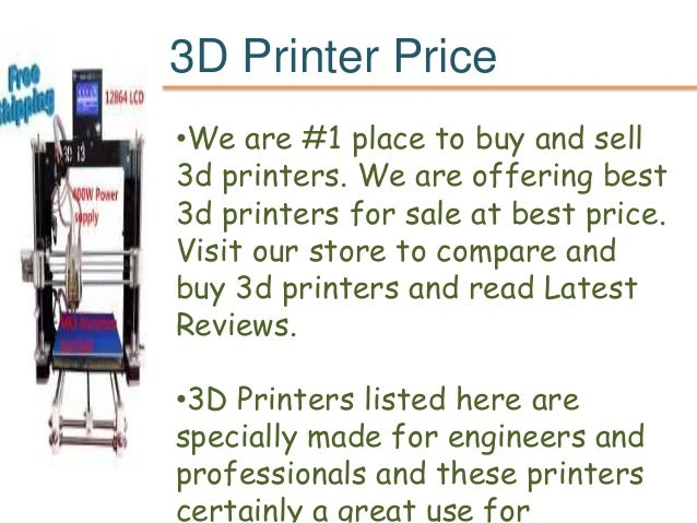 3d printer price Slide 2