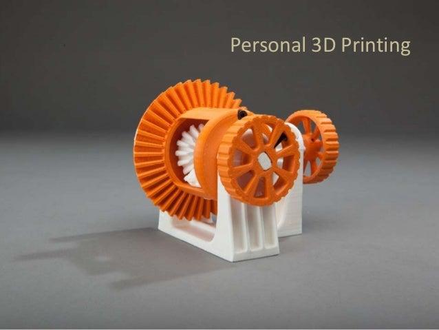 Personal 3D Printing
