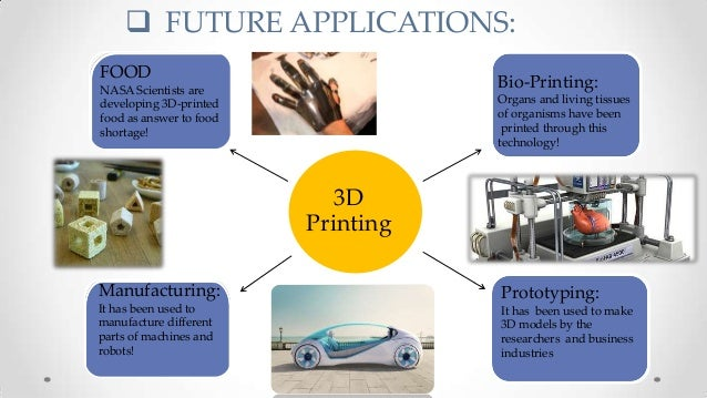 Applications Of 3D Printers