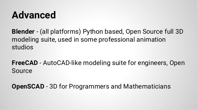 Advanced Blender - (all platforms) Python based, Open Source full 3D modeling suite, used in some professional animation s...