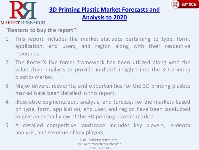 Global 3d printing plastic market 2020 by type - The net a porter group asia pacific limited ...