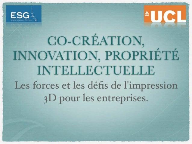 [Paris 3DPrintShow] Co-création, innovation, propriété intellectuelle : Les forces et les défis de l'impression 3D pour le...