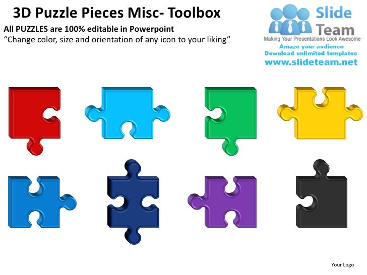 3d puzzle pieces misc powerpoint presentation slides ppt templates