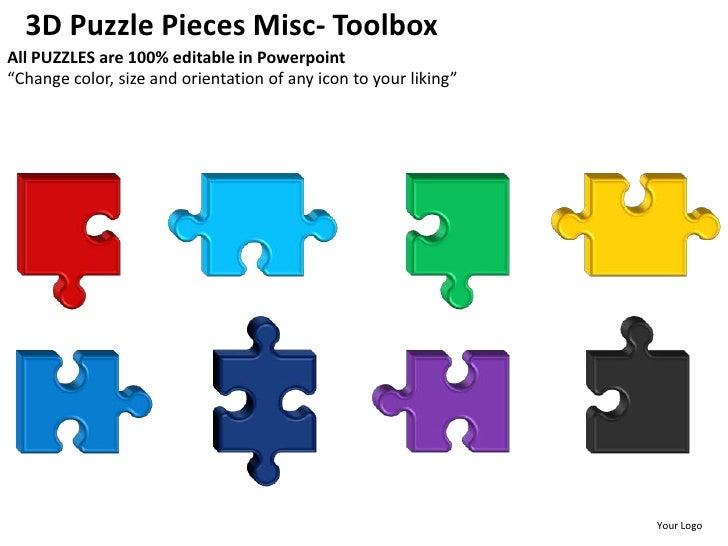 3d puzzle pieces misc powerpoint presentation templates