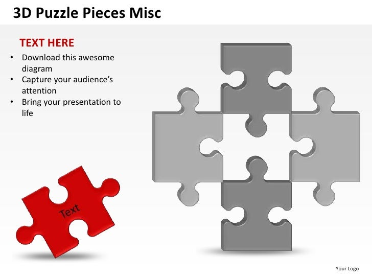 3d puzzle pieces misc powerpoint presentation templates presentation to attention life your logo 4 3d puzzle toneelgroepblik Gallery