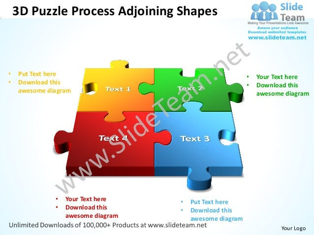 3d puzzle process adjoining shapes powerpoint templates 0812 3d puzzle process adjoining shapes put text here toneelgroepblik Gallery