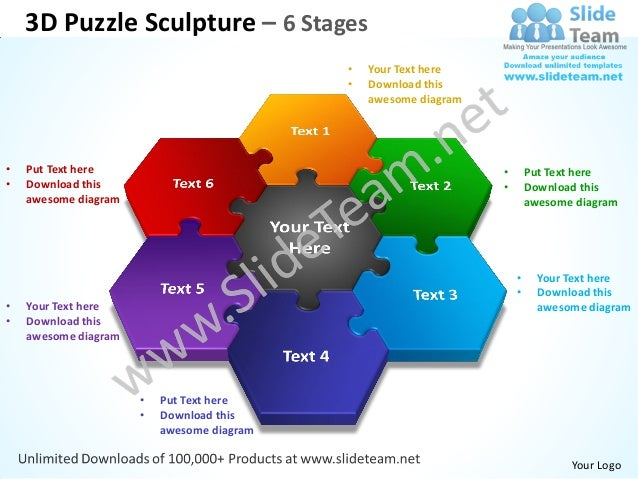 3D Puzzle Sculpture – 6 Stages                                            •   Your Text here                              ...