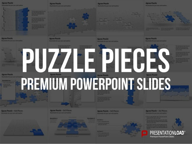 Jigsaw Puzzle Placeholder for your own sub headline