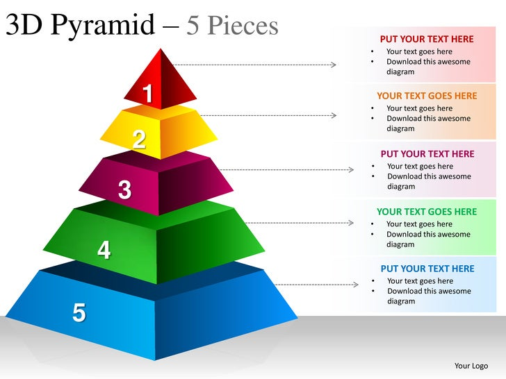 ... 3d Powerpoint Presentation Templates 3d Pyramid 5 Pieces Powerpoint  Presesntation Templates ...