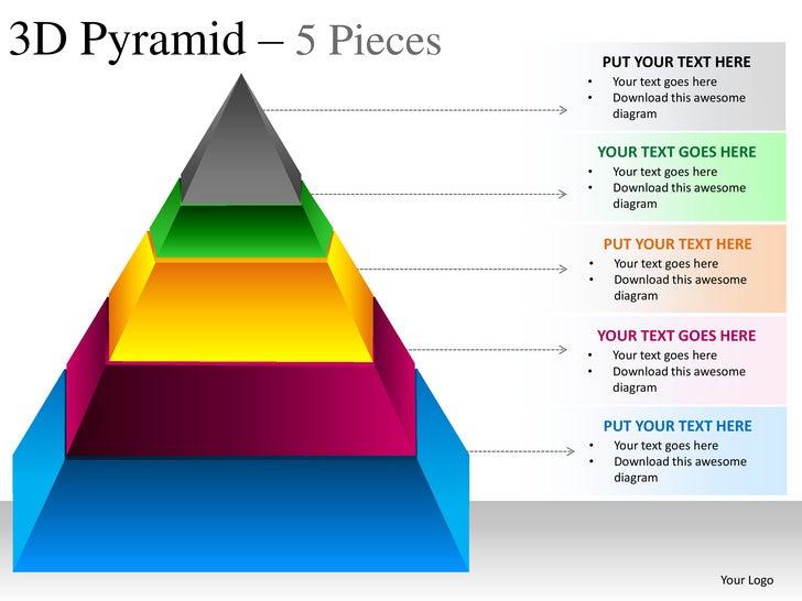 pyramid 5 pieces powerpoint presesntation templates