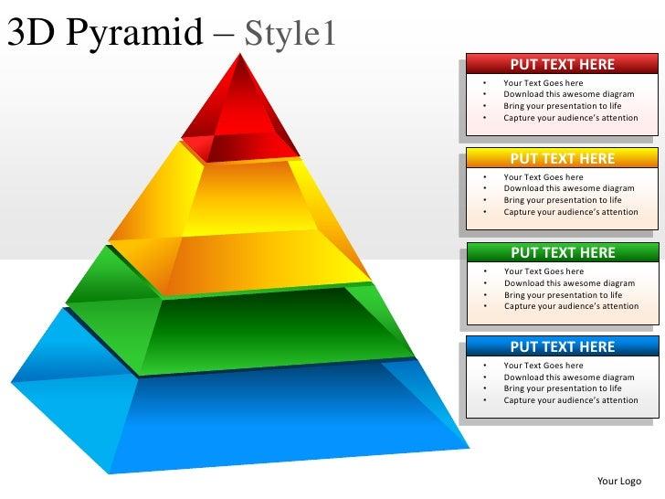 3d Pyramid Style 1 Powerpoint Presentation Templates