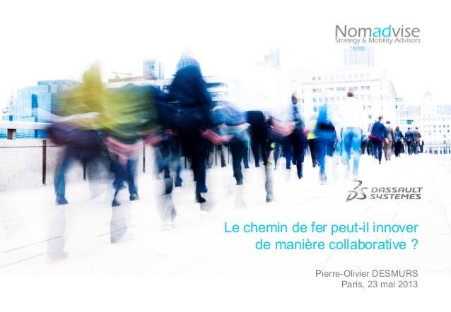 Le chemin de fer peut-il innoverde manière collaborative ?Pierre-Olivier DESMURSParis, 23 mai 2013