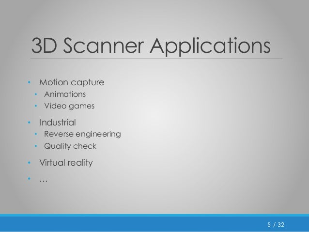 3D scanner using kinect
