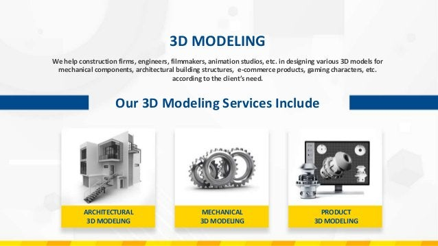 ARCHITECTURAL 3D MODELING Our 3D architectural Modeling Services Include We offer premium quality architecture 3D modeling...