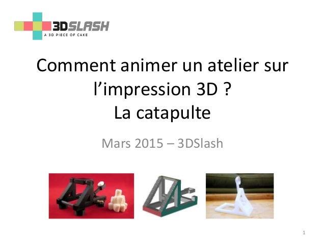 Comment animer un atelier sur l'impression 3D ? La catapulte Mars 2015 – 3DSlash 1