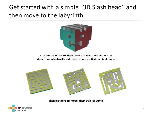 Discover 3D printing and modeling creating your own labyrinth !