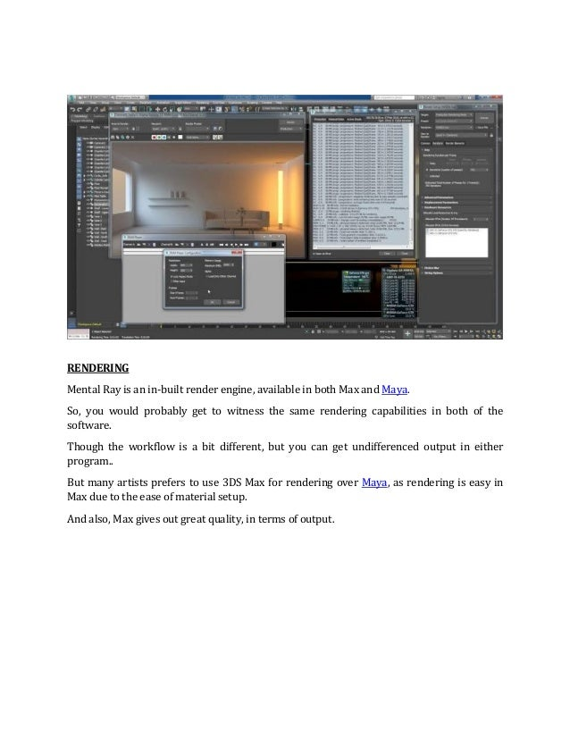 3DS MAX OR MAYA WHICH IS THE BEST 3D SOFTWARE
