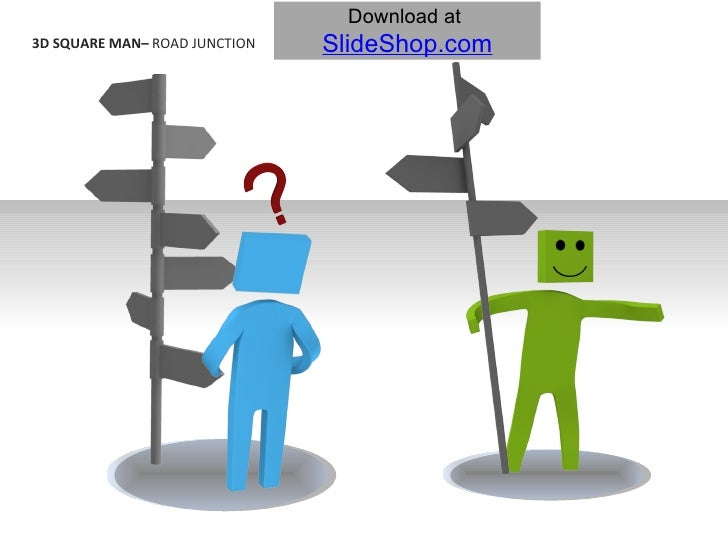3D SQUARE MAN–  ROAD JUNCTION