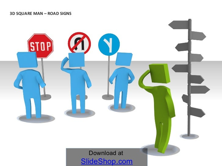 3D SQUARE MAN –  ROAD SIGNS