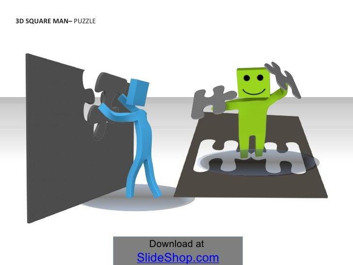 3D SQUARE MAN–  PUZZLE