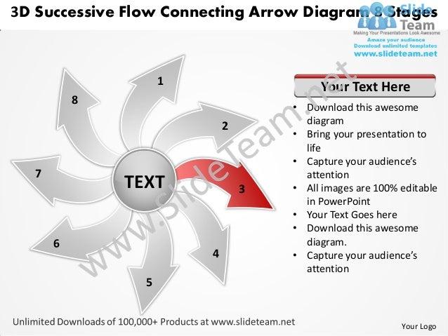 3d successive flow connecting arrow diagram 8 stages circular chart p 5 3d successive flow connecting arrow diagram ccuart Gallery