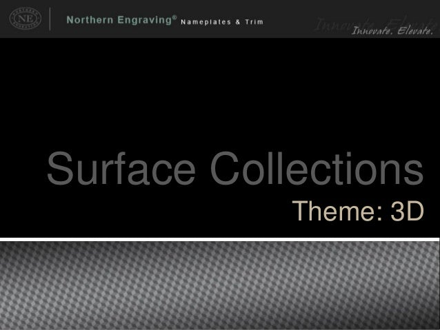 Surface Collections Theme: 3D