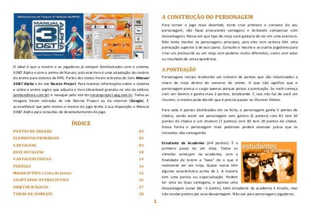 manual 3d&t alpha naruto